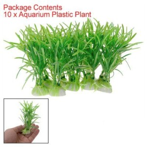10PCS-Plastic-Green-Aquarium-Fish-Tank-Plant-Green-0