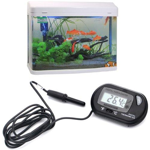 Hde lcd digital fish tank aquarium thermometer fish tank for Fish tank thermometer