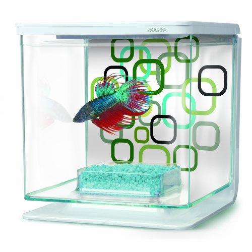 Hagen marina betta aquarium starter kit geo bubbles for Fish tank starter kit