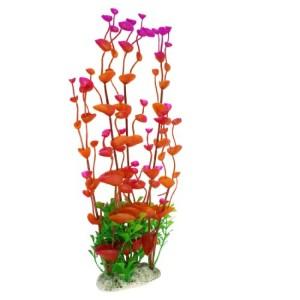 Jardin-Plastic-Leaves-Plant-Decoration-for-Aquarium-13-Inch-MagentaOrangeRed-0
