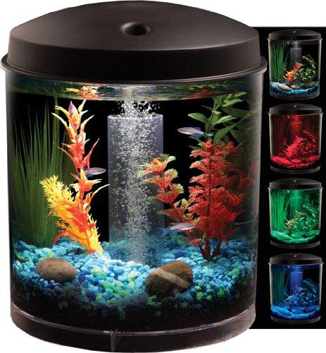 Kollercraft aquarius aquaview 360 aquarium kit with led for Fish tank equipment