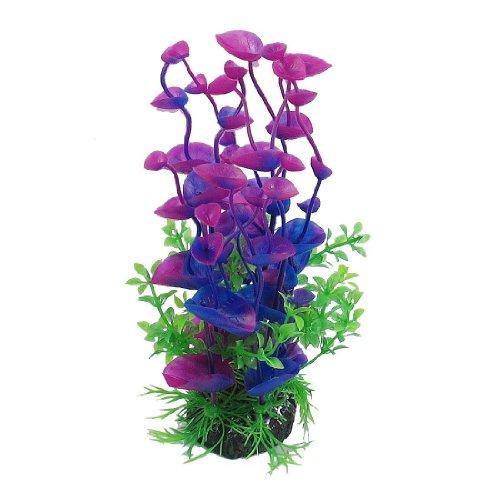 Valor 8 3 Inch Artificial Water Plant Grass For Aquarium Fish Tank Decoration Purple Green