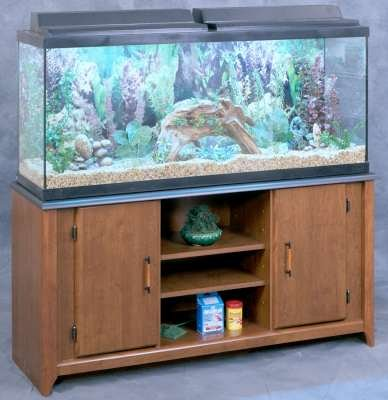 Aquarium stand for 55 gallon tank cherry black 24 3 8 for 55 gallon fish tank stand