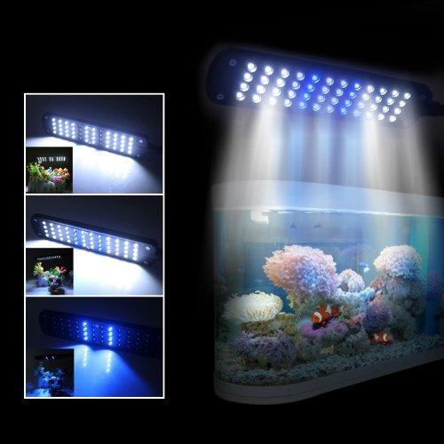 Using Shop Lights For Aquarium: CM-48 48 LED Aquarium Clip Lamp Black US