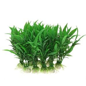 Jardin-Plastic-Aquarium-Tank-Plants-Grass-Decoration-10-Piece-Green-0