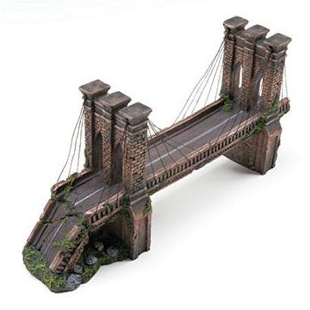 Penn plax medium brooklyn bridge for fish tank aquarium for Aquarium bridge decoration