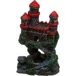 4-Magical-Mini-Castle-wRed-Roof-Aquarium-Ornament-0