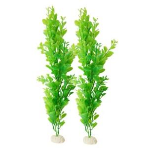 Aquarium-Fish-Tank-Decor-Artificial-Green-Plastic-Aquatic-Plant-2-Pcs-0