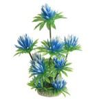 Aquarium-Fish-Tank-Plastic-Water-Lily-Plant-Decor-Sky-Blue-Green-10-0