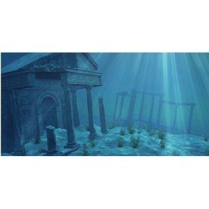 Sporn Aquarium Background Static Cling Ruins 36 Quot X 18