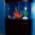 Aqua-vim-Ocean-View-Reef-Ready-83-Gallon-Seamless-Bow-Front-Glass-Aqsuarium-with-Real-Wood-Furniture-0