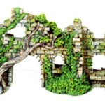 Exotic-Environments-Cobblestone-Castle-Walls-Aquarium-Ornament-10-Inch-by-3-12-Inch-by-5-12-Inch-0