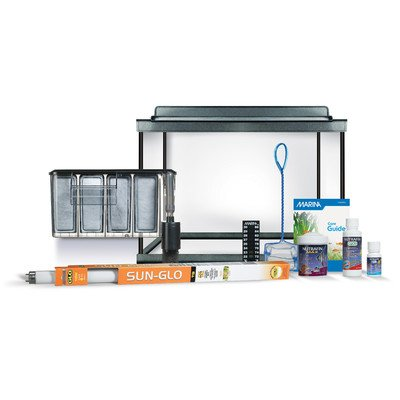 Marina style 20 deluxe glass aquarium kit 20 gallons for 20 gallon fish tank kit