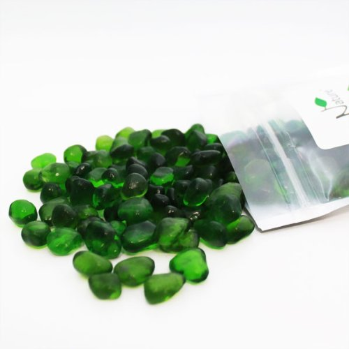 Nature Aquarium Polished Glass Gravel - Green Glass Gravel 8 oz. Large ...