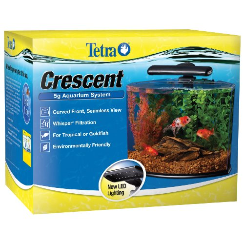 Tetra Crescent Acrylic Aquarium Kit Energy Efficient Leds