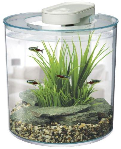 Marina 360 degree aquarium starter kit fish tank for Starter fish tank