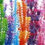 LGI-Plastic-Aquarium-Fish-Tank-Grass-Plants-Ornament-Dcor-6-Piece-Assorted-Color-12-14-long-0-0