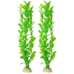 Uxcell-2-Piece-Plastic-Fish-Tank-Plant-Set-122-Inch-Green-0