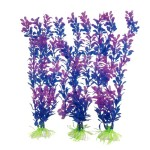 Uxcell-3-Piece-Soft-Plastic-Fish-Tank-Aquascaping-Plant-Set-PurpleBlue-0